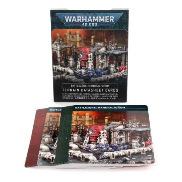 Warhammer 40K - Battlezone: Manufactorum – Terrain Datasheet Cards