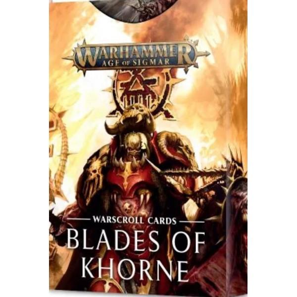 Age Of Sigmar - Blades Of Khorne - Warscroll Cards
