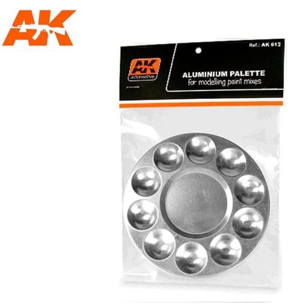 AK Interactive - Aluminium Palette 10 Wells