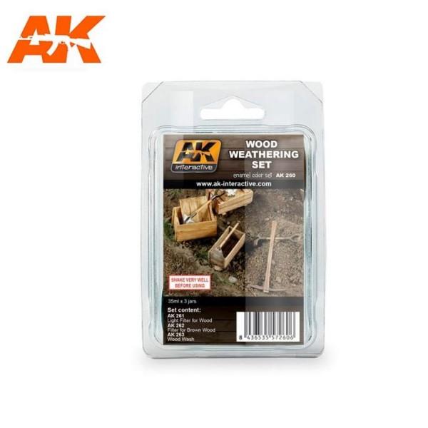 AK Interactive - Weathering set - Wood