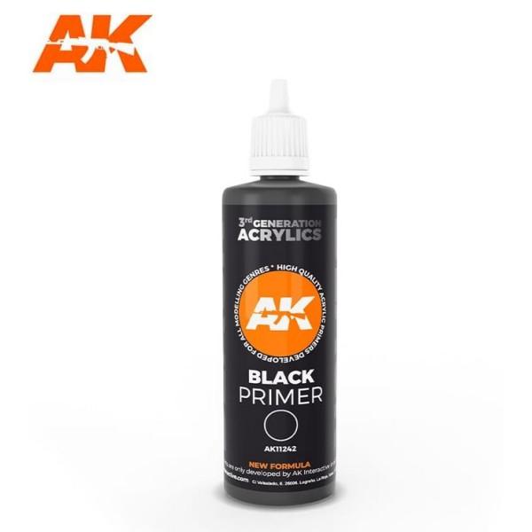 AK Interactive - 3rd Generation - BLACK PRIMER (100ml)