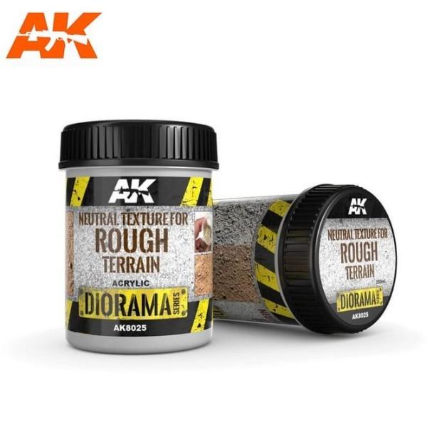 AK Interactive - Diorama Effects - Neutral Texture for Rough Terrain (250ML)