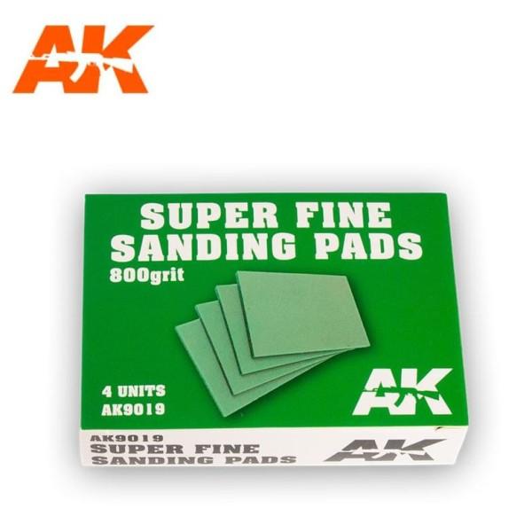 AK Interactive - SUPER FINE SANDING PADS 800 GRIT (4)