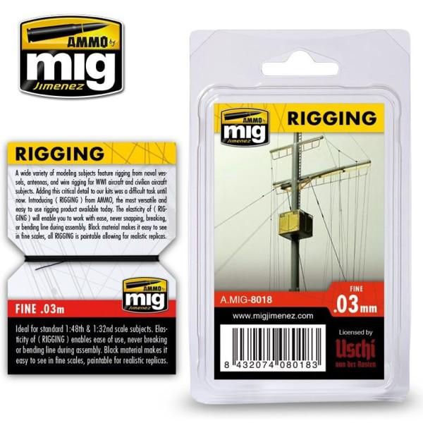 MiG - AMMO - Scenics - RIGGING – FINE 0.03 MM