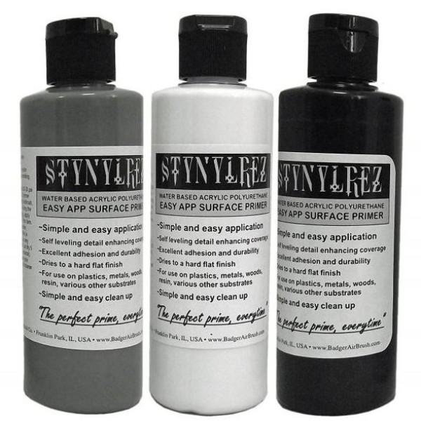 Badger Stynylrez - Acrylic Airbrush Primer - 3 Tone Pack - 120ml
