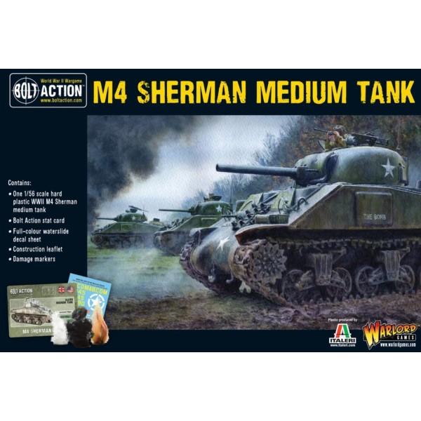 Bolt Action - US - M4 Sherman medium tank (plastic)