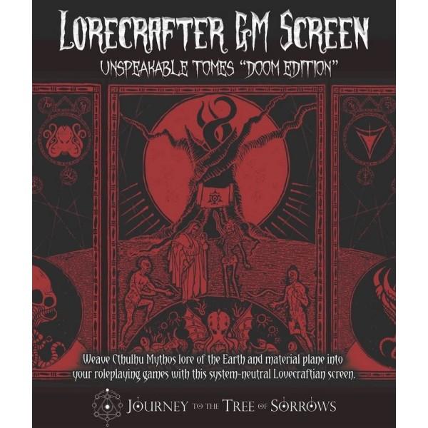 Lorecrafter GM Screen - Doom Edition - (System Neutral Cthulhu Mythos Game aid)
