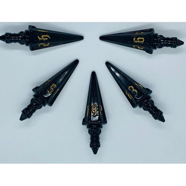 PolyHero - Rogue Dice - 5d6 Swords (Nightshade)