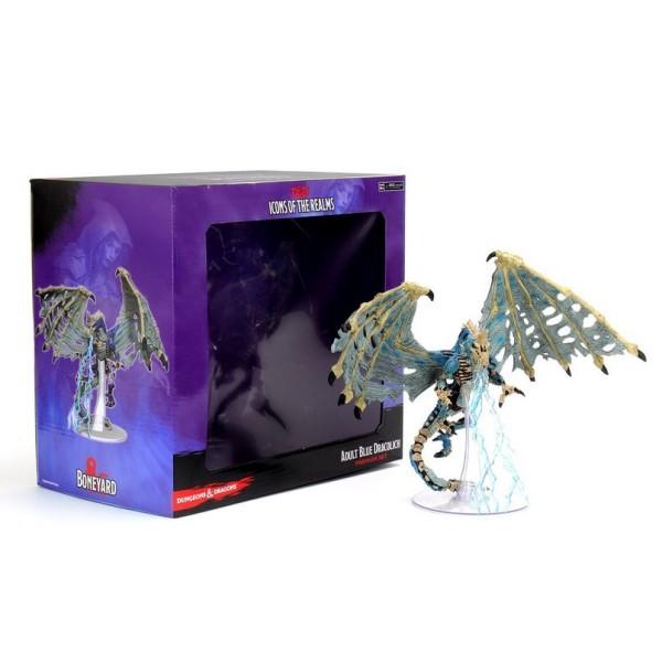 D&D Miniatures - Icons of the Realms Wave 17 - Boneyard - Blue Dracolich - Premium Set