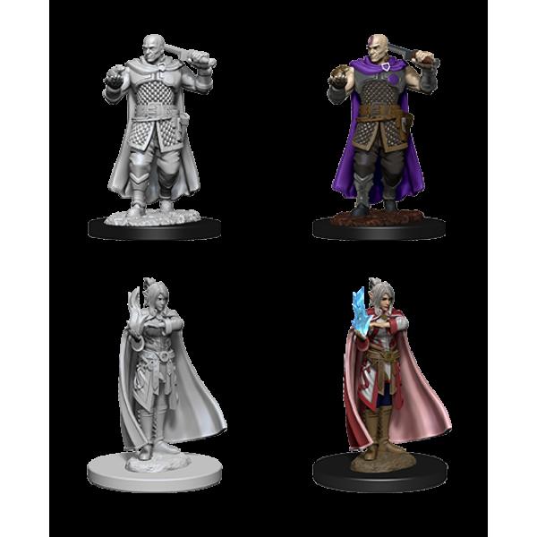 D&D - Nolzur's Marvelous Unpainted Minis: Human Ranger (Minsc) & Moon Elf Sorcerer (Delina)