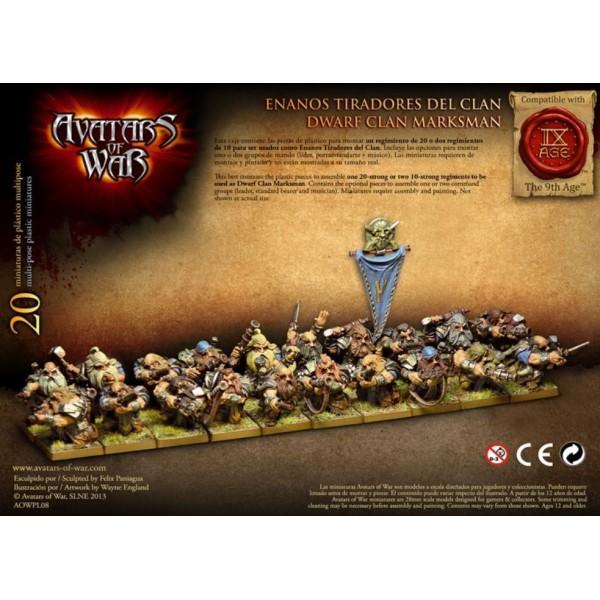 Avatars of War - Dwarfs - Clan Marksmen