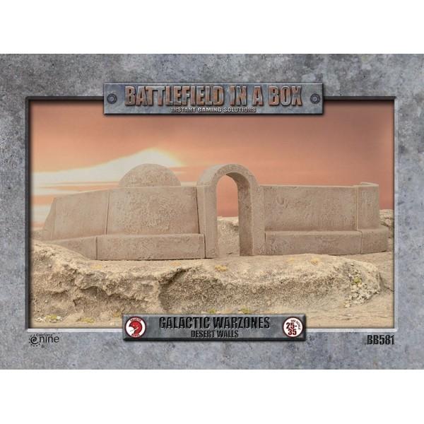 GF9 - Battlefield in a Box - Galactic Warzones - Desert Walls