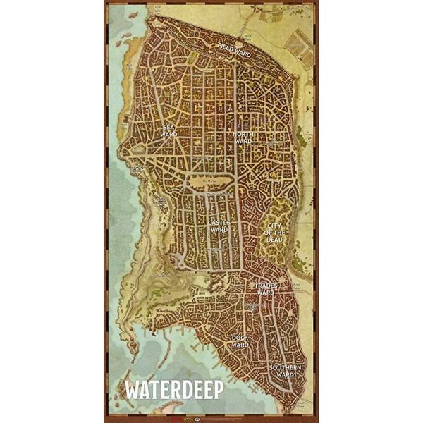 D&D - 5th Edition - Waterdeep - City Map (Huge Vinyl!)