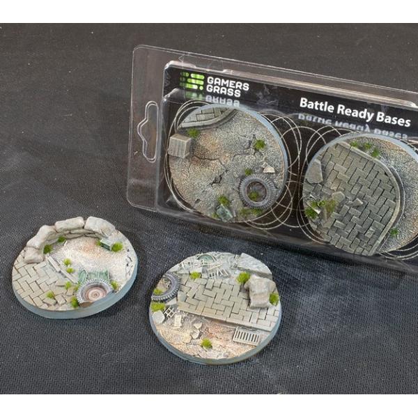 Gamers Grass - Battle Ready Bases - Urban Warfare - Round 60mm (2)