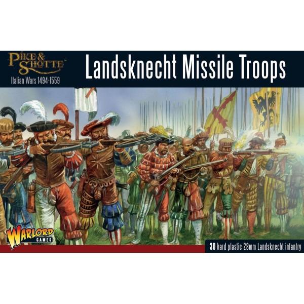 Warlord Games - Pike and Shotte - Landsknechts Missile Troops