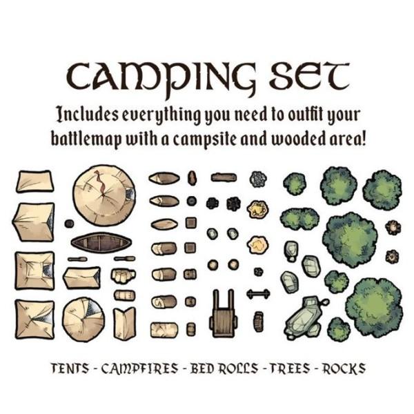 Tabletop Tokens - Camping Set