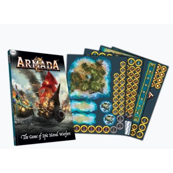 Kings Of War - Armada - Rulebook and Counter Set