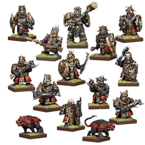 Kings Of War - Vanguard - Abyssal Dwarf Warband Faction Starter