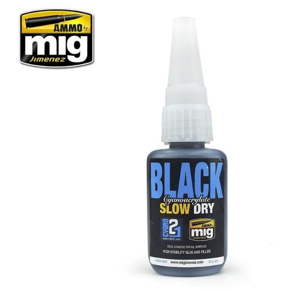 Mig AMMO - SLOW DRY BLACK CYANOACRYLATE (Super Glue)
