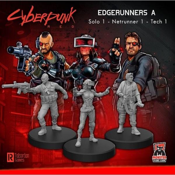 Cyberpunk Red Miniatures - Edgerunners A - Solo, Tech, Netrunner
