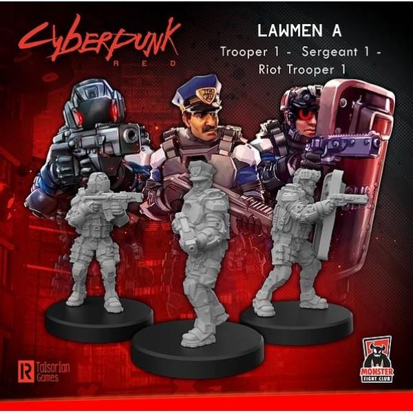 Cyberpunk Red Miniatures - Lawmen A - Command