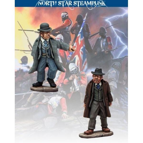 North Star Steampunk Miniatures - Scotland Yard Inspectors