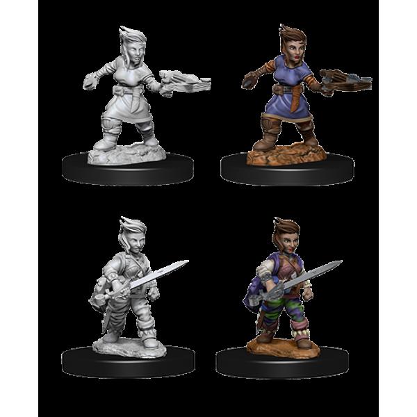 Pathfinder - Deep Cuts Unpainted Miniatures: Halfling Female Rogue
