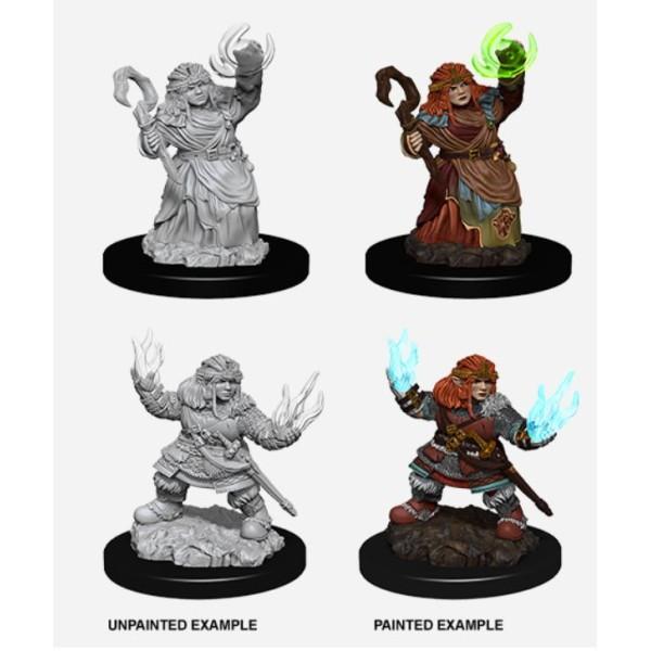 Pathfinder - Deep Cuts Unpainted Miniatures: Dwarf Female Summoner