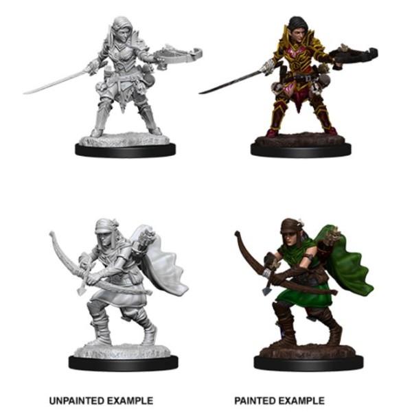 Pathfinder - Deep Cuts Unpainted Miniatures: Half-Elf Female Ranger