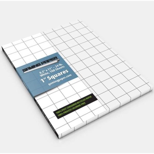 "Gaming Paper - 1″ Square Singles - 8.5""×11"""