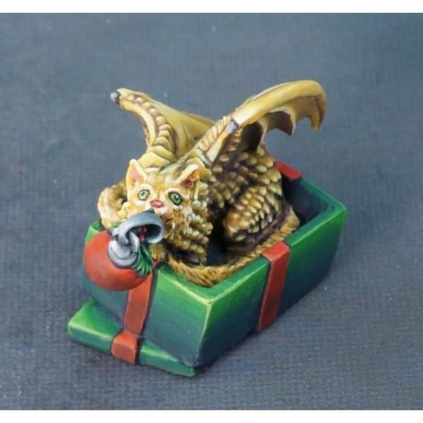 Reaper - Christmas Miniatures - Cat Dragon