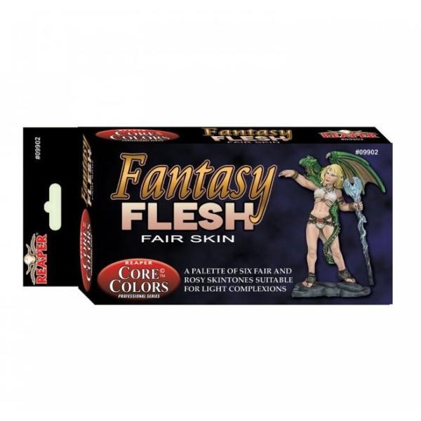Reaper Fast Palette - Core Colors Paint Set - Fantasy Flesh (Fair Skin)