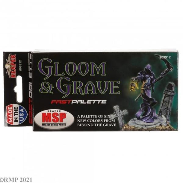 Reaper Fast Palette - MSP Bones Paint Set - Gloom and Grave Colors