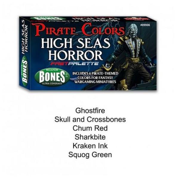 Reaper Fast Palette - MSP Bones Paint Set - High Seas Horror