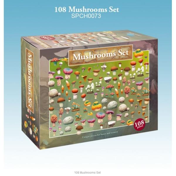 Spellcrow - 28mm Fantasy: 108 Mushrooms Set