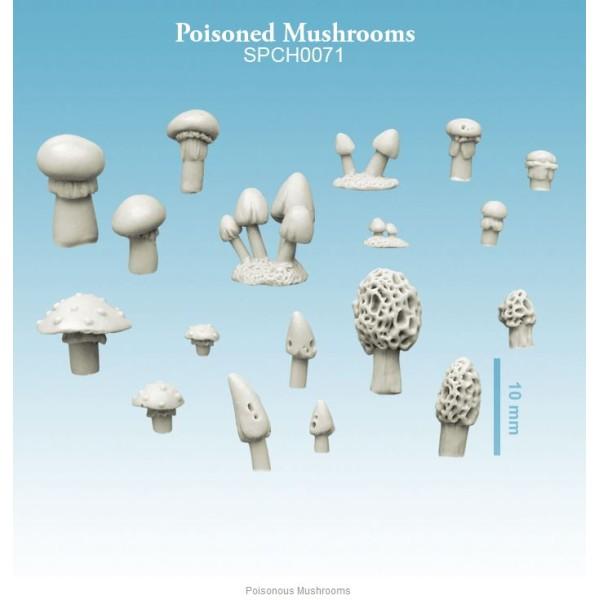 Spellcrow - 28mm Fantasy: Poisonous Mushrooms