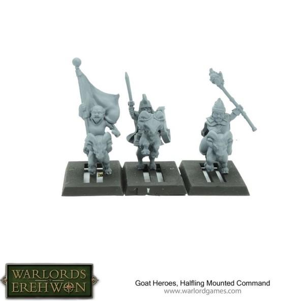 Warlords of Erehwon - TTCOMBAT - Goat Heroes, Halfling Mounted Command