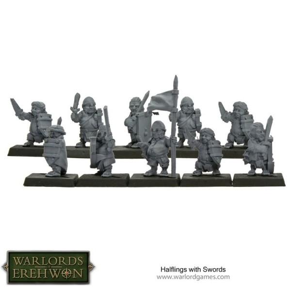 Warlords of Erehwon - TTCOMBAT - Halfling with Swords