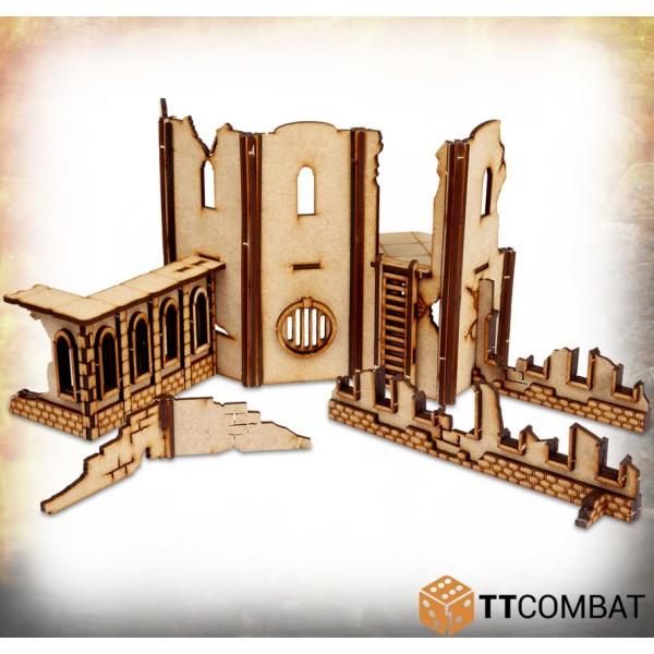 TTCombat - MDF Terrain - Savage Domain - Castle Town Walls