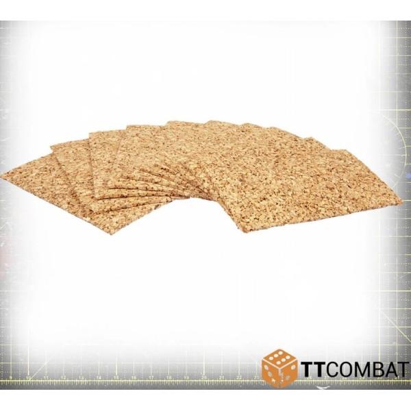 TTCombat - Hobby Accessories - Cork Basing - 2mm (10)