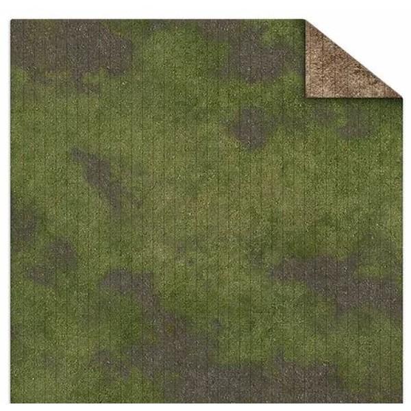 Monster Fight Club - Double Sided Gaming Mat (Gridded) - 3x3 - Broken Grasslands / Desert Scrubland