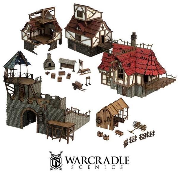 Warcradle Scenics - Gloomburg - Gloomburg Sprawl Set