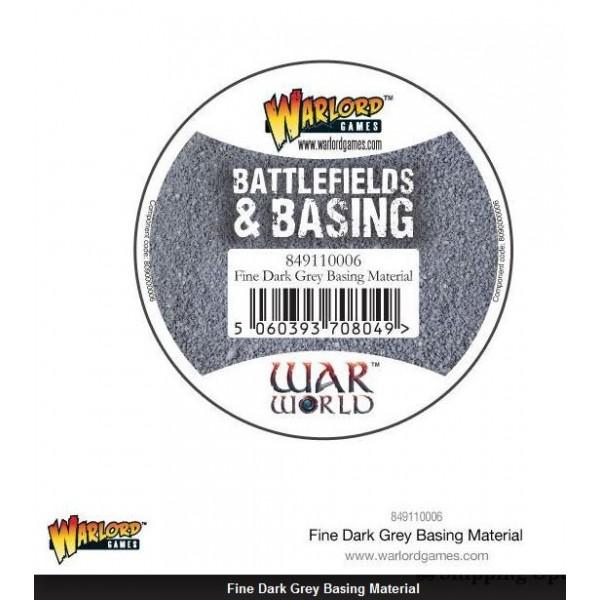 Warlord Scenics - Fine Dark Grey Basing Material - 180ml
