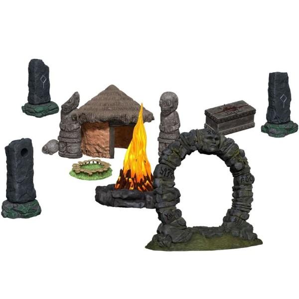 WizKids - Fantasy RPG Terrain - Pre-painted 4D Jungle Shrine
