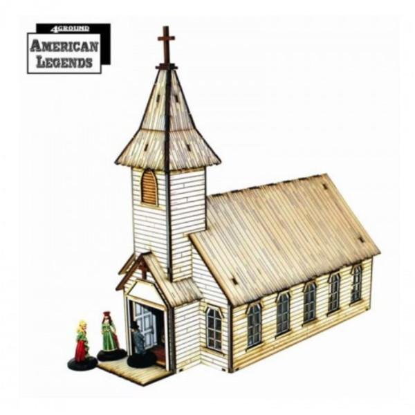 4Ground Terrain - Wild West - Feature Building - Rev. Johnson's Church