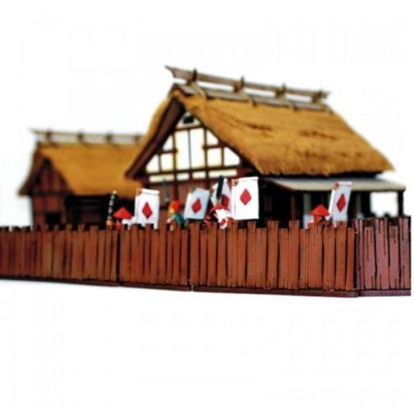 4Ground Pre-Painted Terrain - Edo Japan - Village Wooden Fences