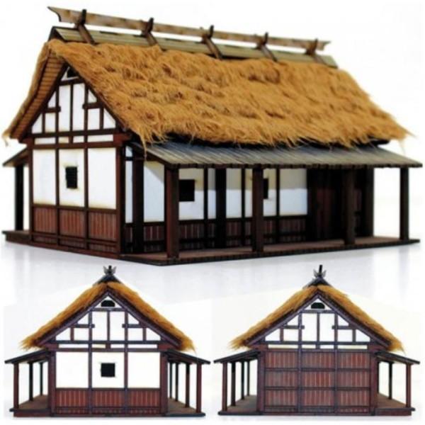 4Ground Pre-Painted Terrain - Edo Japan - Peasant Farmer's Cottage