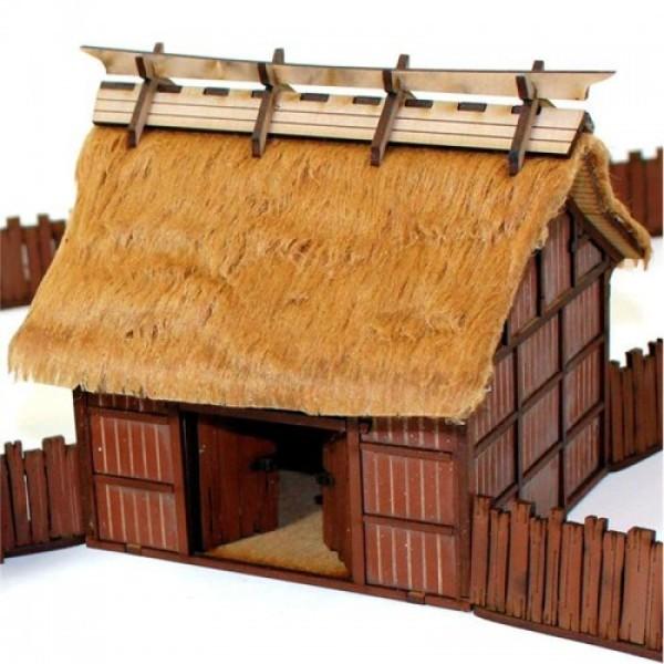 4Ground Pre-Painted Terrain - Edo Japan - Village Rice Barn