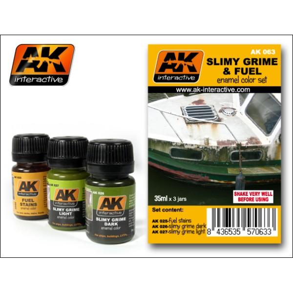 AK Interactive - Weathering set - Slimy Grime & Fuel
