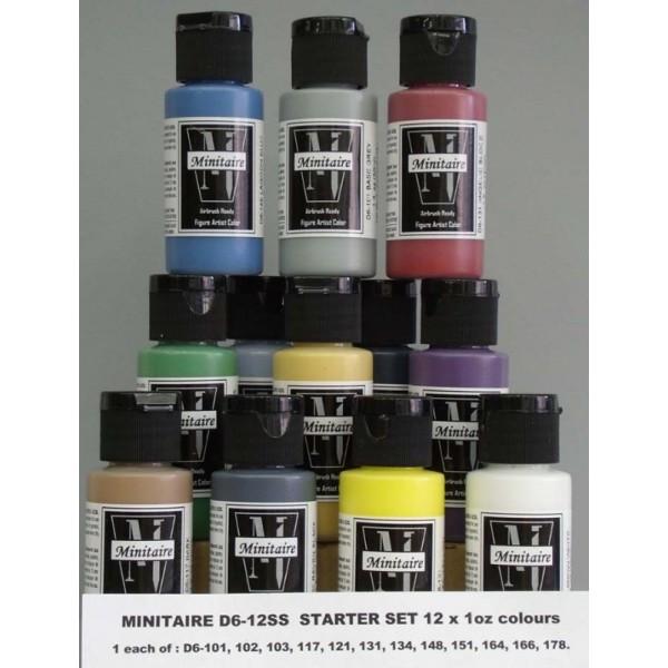 Badger Minitaire Airbrush Paint Set - Starter Set